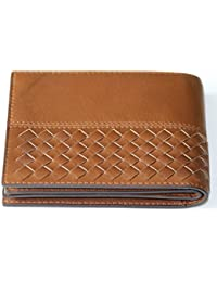 Brown Color Men's Leather Wallet Purse Money Clip Bill Hold By UR
