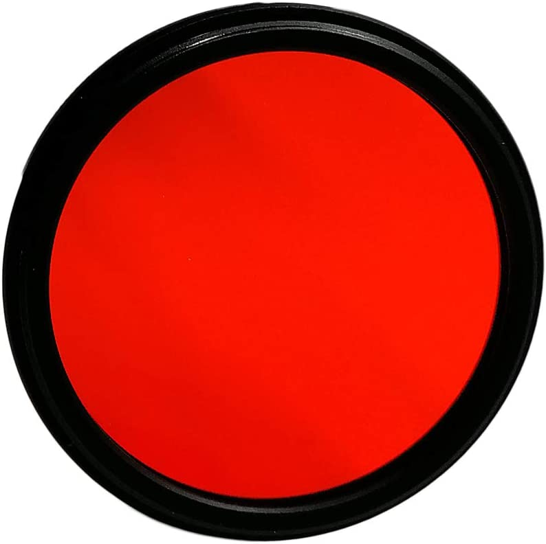 Balaweis 82mm Red Full Color Lens Filter for DSLR Camera Lens Accessory with 82MM Filter Thread