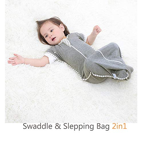 ILuck Baby Swaddle Sack with Arms Up, Swaddle Blankets, Transition Bag, Baby Sleeping Bag, 13-19 lbs, self-Soothing, Snug fit Calms Startle Reflex, Medium 3-6 Month