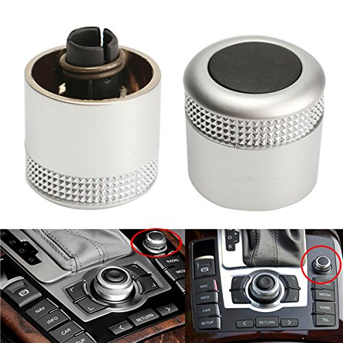 GOZAR Multimedia Mmi Manopola Di Regolazione Del Volume Interruttore Per Audi A6 Q7 S6 S8 C6 - Avant