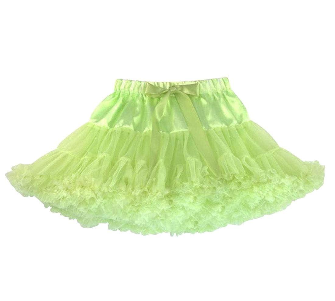 Wofupowga Girls Casual Pleated Bowknot Tutu Tulle Skirts