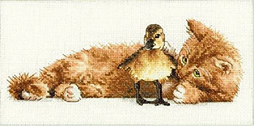 Dimensions Crafts NeedleCrafts Gold Petite Colelction Counted Cross Stitch, Furry Friends