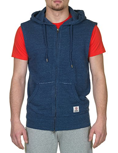 Franklin & Marshall Men's Blue Vest With Hood in Size L Blue by Franklin & Marshall