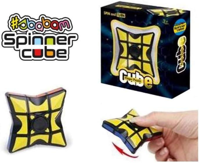 GHB – Juego Juguete Cubo de Rubik, Fidget Finger Spinner Rueda A 360 ° 3 +: Amazon.es: Electrónica
