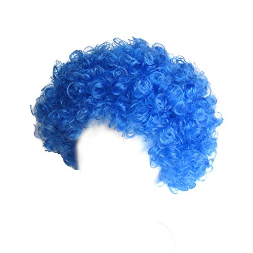 SeasonsTrading Economy Blue Afro Wig Halloween Costume Party Wig STC13035