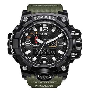 Skmei Analogue Digtal Dual Quartz Movement Military Design Water Resistant Sports Men's Watch -(1545)