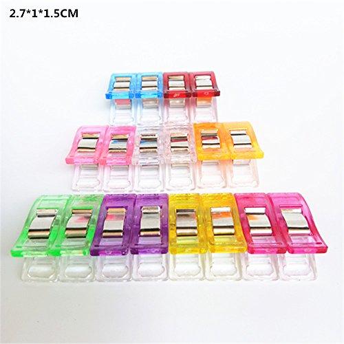 L-FENG-UK 50 PCS Plastic Clips Clamps Mixed color