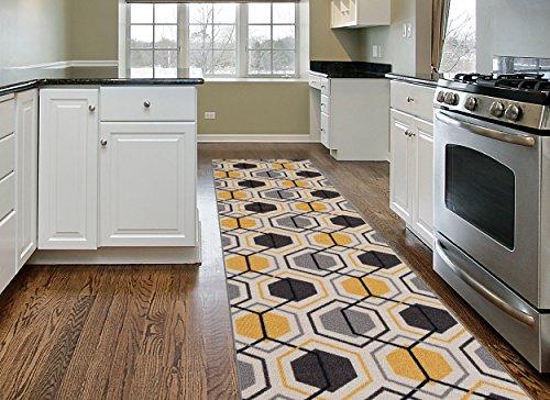 Contemporary Geometric Non Slip Non Skid Yellow product image