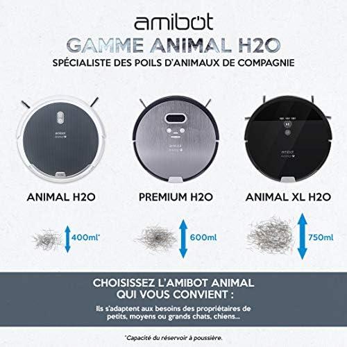 AMIBOT Animal H2O - Robots Aspirateurs et laveurs spécial Poils d'animaux - Home Robots