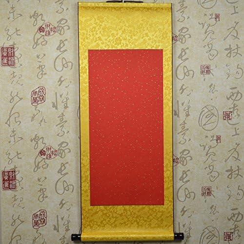 JZ001 Hmayart Kakejiku ブランクマウントハンギングスクロール 中国米 Xuan ペーパーアートウォールスクロール スミーと書道用 40インチ JZ001