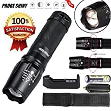 Led Flashlight, ODgear 5000 Lumen G700 LED Zoom Flashlight X800 Military Lumitact Torch+ Rechargeable Battery + Sigle Slot Charger
