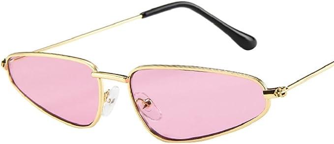 Lunettes de Soleil Femmes Dames Petit Cadre Sunglasses Vintage Retro Cat Eye Malloom