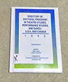 img - for Directory of Doctoral Programs in Theatre Studies in the U.S.A. and Canada book / textbook / text book