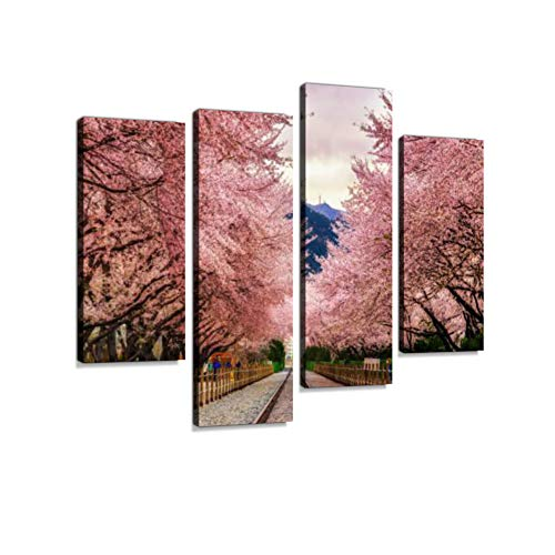 Gyeonghwa Station Canvas Wall Art Hanging Paintings Modern Artwork Abstract Picture Prints Home Decoration Gift Unique Designed Framed 4 Panel
