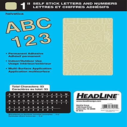 Amazon.com : Headline Sign 31955 Stick-On Vinyl Letters and Numbers ...