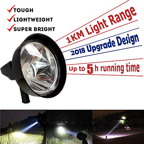7 inch LED Handheld Spotlights Offroad Hunting Fishing Camping Work Spot Lights 100 Watt 12V for Car Truck Search Lamps Travel Outdoor Portable Flashlights