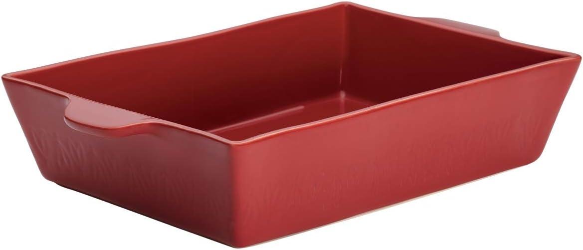 "Ayesha Curry 46943 9"" x 13"" Stoneware Baker, Sienna Red"
