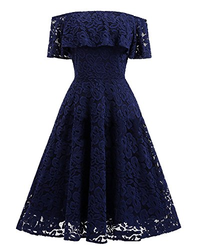 Ruffle Floral Lace Dress - 6
