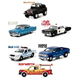 NEW 1:64 GREENLIGHT COLLECTION - HOLLYWOOD SERIES 16 ASSORTMENT Diecast Model Car By Greenlight Set of 6 Cars