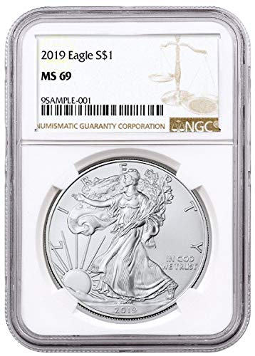 - 2019 - Silver Eagle Brown Label Dollar MS69 NGC