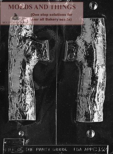 (3D YULE LOG chocolate candy mold with Molding Instruction - Set of 3)