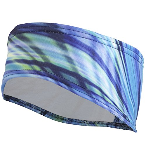 TrailHeads Women's Print Ponytail Headband – 12 prints  - Made in USA - deep dive blue by TrailHeads (Image #9)