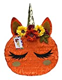 APINATA4U Fall Theme Pumpkin Pinata with Unicorn Accents