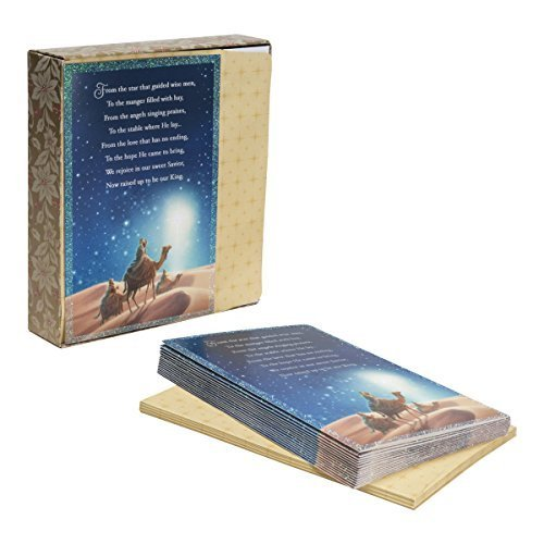 (DaySpring Boxed Christmas Cards 18 Ct w Designed Envelopes - Three Wise Men (84186) by Dayspring)