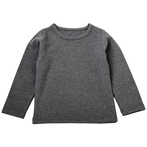 Sunhusing Children Girls Boys Cartoon Solid Color Long Sleeve T-Shirt Tops Tee Kids Baby Casual Shirts ()