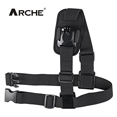ARCHE Single Shoulder Strap Mount Harness Shoulder Chest Strap Supports Belf for Gopro Fusion Hero3 3+ 4 Hero 4 Session Hero 5 Black Hero5 Session Hero 6 Black Hero6 Sports Action Camera Video Camera
