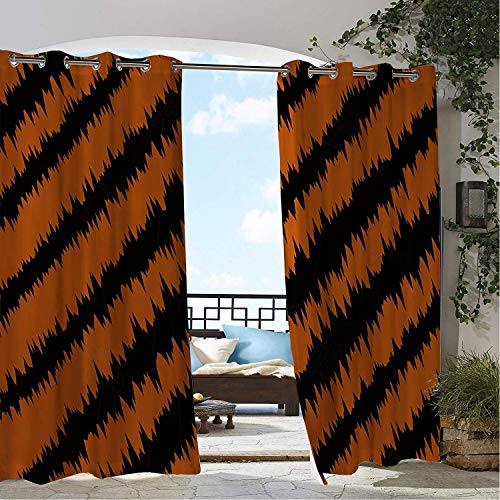Linhomedecor Patio Waterproof Curtain Halloween Paw Pr t Pattern 9 Porch Grommets Backdrop Curtains 108 by 108 inch]()