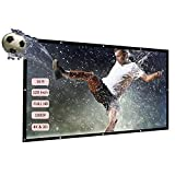 Docooler 120'' Portable Projector Screen HD 16:9 White 120 Inch Foldable Diagonal Projection Screen Home Theater for Wall Projection Indoors Outdoors