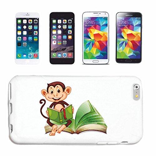 caja del teléfono Huawei P9 MONO QUE LEE UN LIBRO MONO Chimpancé del GORILA posterior de la plata APE CHARLY MONKEY KING KONG Caso duro de la cubierta Teléfono Cubiertas cubierta para el Apple iPhon