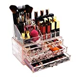 Jewelry and Cosmetic Boxes with Brush Holder - Pink