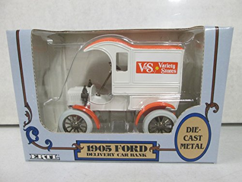 Ford Ertl 1905 Delivery Car Bank V&S Variety Stores 1:25 Scale