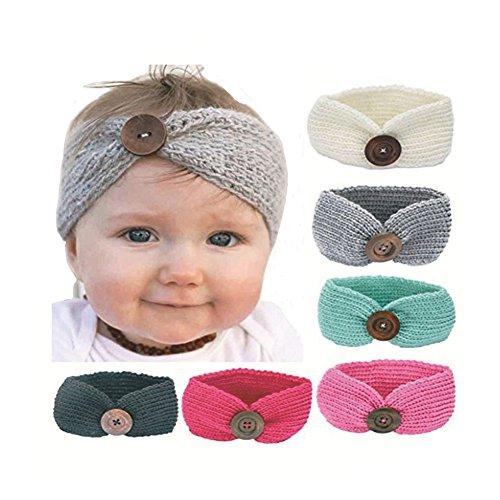 FLAEVVE Headbands Infant Knotted Elastic