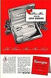 Best Prints Prints Prints Electric Shavers - Print Ad 1949 Remington Contour DeLuxe Electric Shaver Review
