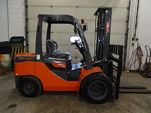 - Brand New 2017 Viper FD35 Forklift 8000LB Dual Drive Side Shift Fork Positioner Pneumatic Lift Truck comparable to Hyster, Caterpillar, Genie, Yale, Linde, Mitsubishi, Clark, Crown