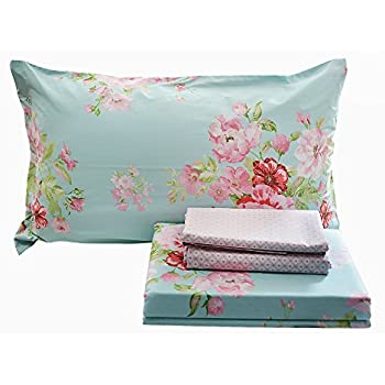 fadfay shabby pink floral bedding sets cotton duvet cover set 4piece full size