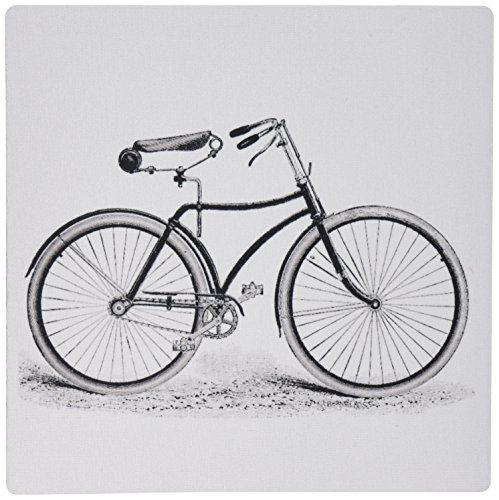 3dRose Inches Vintage Bicycle Drawing