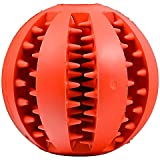 Mudder 犬用噛むおもちゃ ボール 赤色