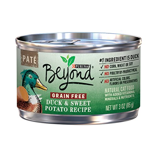 Purina Beyond Grain Free Pate Duck & Sweet Potato Recipe Adult Wet Cat Food - Twelve (12) 3 oz. Cans -