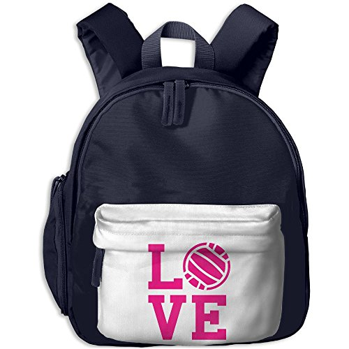 Baby Toddler Pre School Backpack I Love Volleyball Lovely Satchel Boys Girls Toy Book Bag Best For Children's Travel - Volleyball Candid Beach