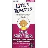 Little Remedies Little Noses Saline Spray-Drops -- 1 fl oz (Pack of 2)