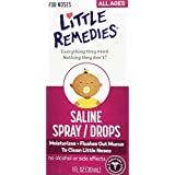 Little Remedies Little Noses Saline Spray/Drops, 1 Ounce, Pack of 2