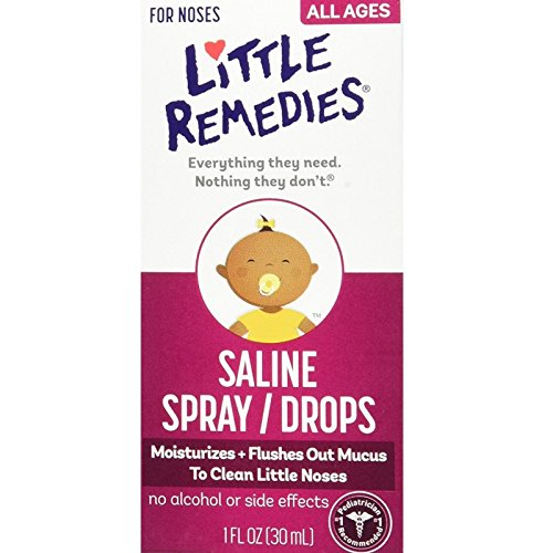 Little Noses Saline Spray/Drops 1 oz ( Pack of (Little Noses Stuffy Nose Kit)