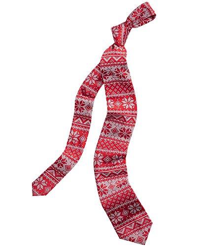 (Celebrate Shop Men's Fair Isle Pattern Christmas Snowflake Neck Tie)