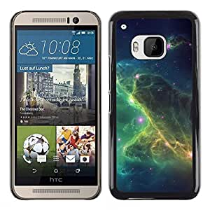 Verde León En Las Nubes - Metal de aluminio y de plástico duro Caja del teléfono - Negro - HTC One M9