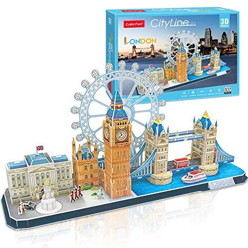 CubicFun 3D Puzzle Cityline London/ New York Architecture Building Model Kits
