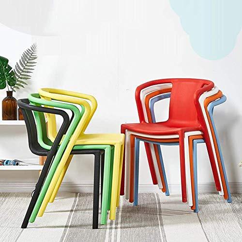 DBL Enfärgad plast sidofri ersättning bra upplevelse perfekt höjd extra robust säte plast skrivbordsstolar (färg: svart)